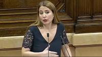 La diputada de Cs Sonia Sierra, al ple del Parlament