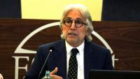 El president de Foment del Treball, Josep Sánchez-Llibre, aquest dilluns a l'acte de presentació del catàleg CAT-100