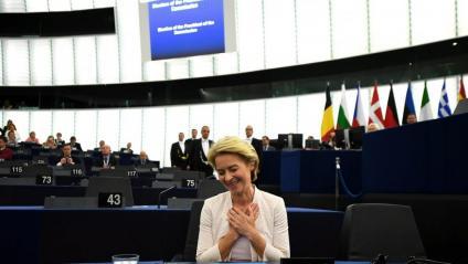 La nova presidenta de la CE, Ursula von der Leyen, aquest dimarts al Parlament Europeu
