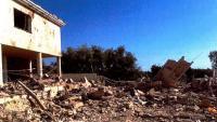 Vista del xalet d'Alcanar-Platja on els terroristes preparaven les bombes, després de l'explosió