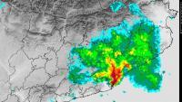 Imatge de radar de la tempesta, aquest dimecres a la tarda