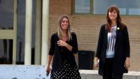 Les diputades de JxCat al Congrés Miriam Nogueras i Laura Borràs, sortint el passat 5 de juny de la presó de Soto del Real