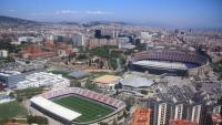 Vista de Barcelona amb el complex blaugrana en primer terme