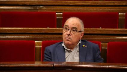 El conseller d'Educació, Josep Bargallo, aquest dimarts al ple del Parlament