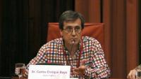 El periodista Carlos Enrique Bayo, aquest dimarts al Parlament