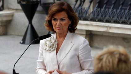 La vicepresidenta del govern espanyol, Carmen Calvo, aquest dimarts al Congrés