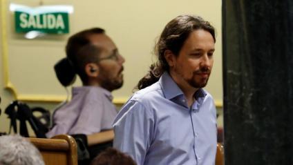 Pablo Iglesias i Pablo Echenique, aquest dimarts al Congrés dels Diputats