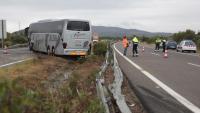 L'autocar accidentat a l'AP-7 a Amposta