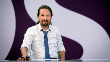 El líder de Podem, Pablo Iglesias, moments abans de l'entrevista a Antena 3