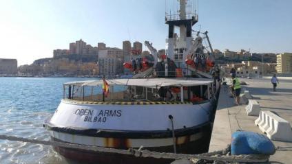 El vaixell humanitari 'Open Arms', aquest dijous a Porto Empedocle