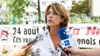 La ministra espanyola de Justícia en funcions, Dolores Delgado, aquest dissabte a París
