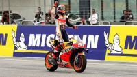 Marc Márquez creua la meta vencedor a Motorland