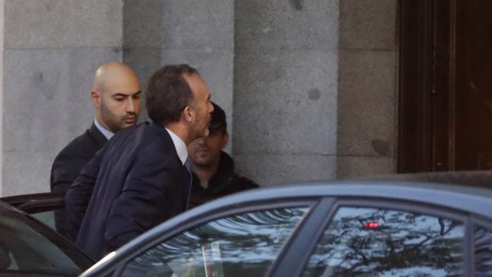 El president de la Sala Segona, Manuel Marchena, arribant aquest dilluns al Tribunal Suprem