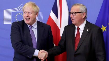 El primer ministre britànic, Boris Johnson, i el president de la CE, Jean-Claude Juncker, aquest dijous a Brussel·les