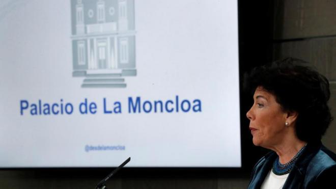 La portaveu del govern, Isabel Celáa, en una imatge d'arxiu a la Moncloa