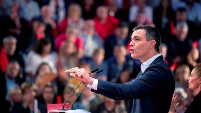 El líder del PSOE, Pedro Sánchez, en un acte del partit aquest dimarts a Cadis