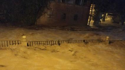 Imatge de les inundacions a l'Albi