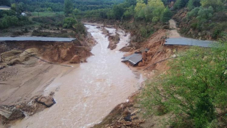 Un pont enfondrat a l'Espluga de Francolí