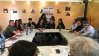 La directiva de l'AMI, reunida aquest dimecres a Vilobí d'Onyar