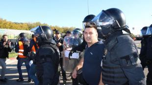 Els Mossos s'enduen el camioner detingut, aquest dimarts a La Jonquera