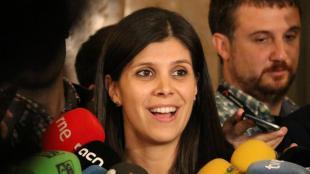 La portaveu d'ERC, Marta Vilalta, en una atenció als mitjans aquest dimarts