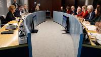 Vista de la reunió de la comissió d'Economia i Hisenda, aquest dimecres a l'Ajuntament de Barcelona