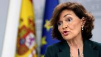 Carmen Calvo, vicepresidenta del govern espanyol en funcions
