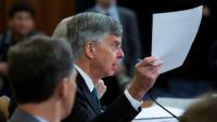 El diplomàtic nord-americà Bill Taylor, testificant aquest dimecres a la comissió del Congrés que investiga l'Ucrania Gate