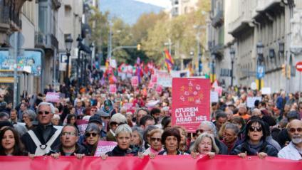 La manifestació contra la 'Llei Aragonès', aquest diumenge a la Via Laietana