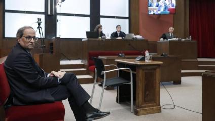 El president de la Generalitat, Quim Torra, al banc dels acusats