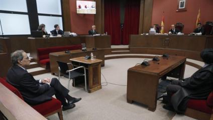 El president de la Generalitat, Quim Torra, aquest dilluns al TSJC