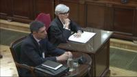 El major dels Mossos Josep Lluís Trapero, durant la seva declaració al judici de l'1-O al Suprem