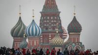Turistes a la plaça Roja de Moscou, en una imatge recent