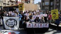 Acte a Lleida en suport dels detinguts, el passat 2 de novembre