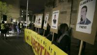 Concentració per demanar la llibertat dels empresonats, a Sabadell