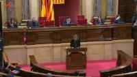 La consellera Àngels Chacón, al ple del Parlament
