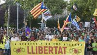 Manifestació a Sabadell per demanar l'alliberament dels CDR detinguts el 23 de setembre