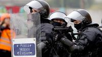 Agents dels Mossos, durant una actuació contra una protesta per la sentència de l'1-O