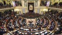 Vista de l'hemicicle del Congrés dels Diputats, a Madrid