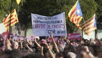 Manifestació en suport dels detinguts en l'operació Judes, el passat 3 d'octubre a Sabadell