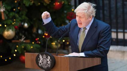 El primer ministre del Regne Unit, Boris Johnson, aquest divendres a Downing Street