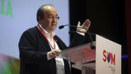 El líder del PSC, Miquel Iceta, aquest divendres al 14è Congrés del Partit
