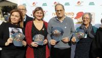 La consellera de Salut, Alba Vergès, i el president de la Generalitat, Quim Torra, aquest dissabte a la festa Posa't la Gorra!