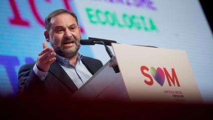 El secretari d'Organització del PSOE, José Luis Ábalos, aquest diumenge al Congrés del PSC