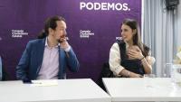 El secretari general de Podem, Pablo Iglesias, i la ministra d'Igualtat, Irene Montero, aquest divendres al Consell Ciutadà de Podem