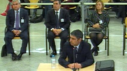 El major dels Mossos Josep Lluís Trapero, aquest dilluns a l'Audiència Nacional