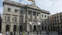 Imatge d'arxiu de la façana de l'Ajuntament, a la plaça Sant Jaume de Barcelona
