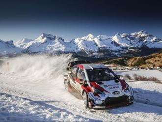 Sébastien Ogier, la setmana passada, provant el Toyota Yaris WRC