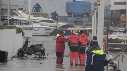 Bombers al port de Palamós, aquest dimecres