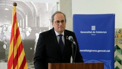 El president de la Generalitat, Quim Torra, en una imatge d'aquest dijous